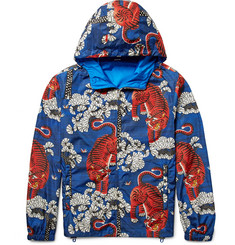 Gucci Printed Shell Hooded Jacket