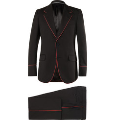 Gucci Black Slim-Fit Piped Twill Tuxedo