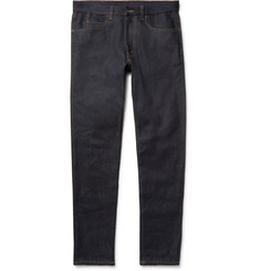 Gucci Slim-Fit Appliquéd Stretch-Denim Jeans