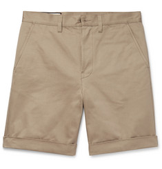 Gucci Appliquéd Cotton-Twill Shorts