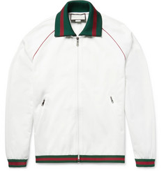Gucci Tech-Jersey Zip-Up Track Jacket