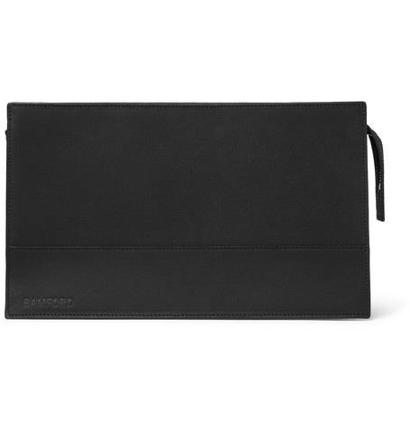 BAMFORD GROOMING DEPARTMENT PERFORATED LEATHER WASH BAG