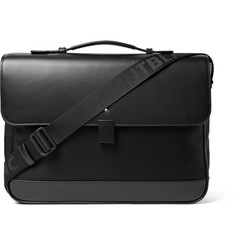Montblanc Nightflight Leather-Trimmed Nylon Briefcase