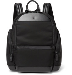 Montblanc - Nightflight Leather-Trimmed Nylon Backpack
