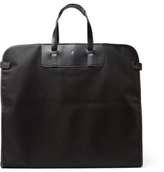 Montblanc - Nightflight Leather-Trimmed Nylon Garment Bag