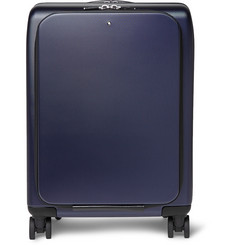 Montblanc Nightflight Leather-Trimmed Hardshell Wheeled Trolley Case