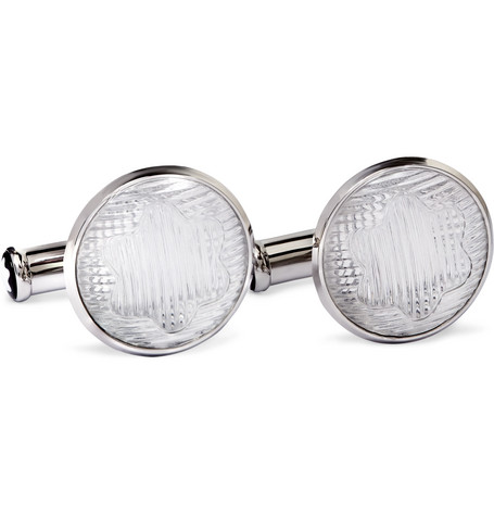 montblanc male montblanc urban spirit stainless steel and acrylic cufflinks silver