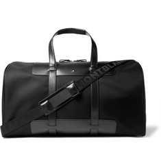 Montblanc Panelled Leather and Canvas Duffle Bag