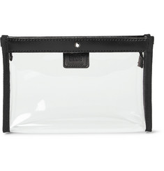 Montblanc - Leather-Trimmed Transparent Flight Bag