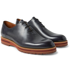 Berluti - Alessio Whole-Cut Polished-Leather Oxford Shoes