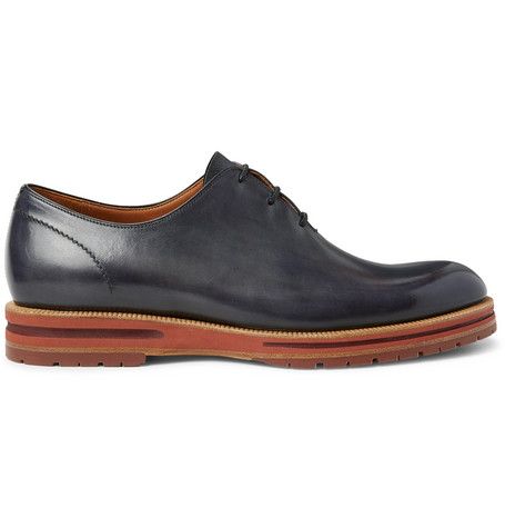Alessio Whole-cut Leather Oxford Shoes - BrownBerluti