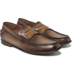Berluti - Polished-Leather Penny Loafers