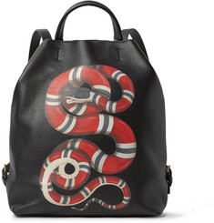 Gucci Printed Full-Grain Leather Convertible Bag