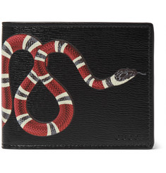 Gucci - Printed Textured-Leather Billfold Wallet