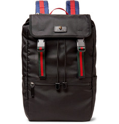 Gucci - Webbing-Trimmed Nylon-Canvas Backpack