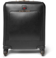Gucci Textured-Leather Wheeled Suitcase