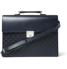 Gucci GG Debossed Leather Briefcase