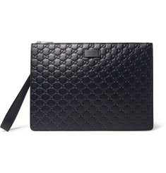 Gucci - GG Debossed Leather Pouch