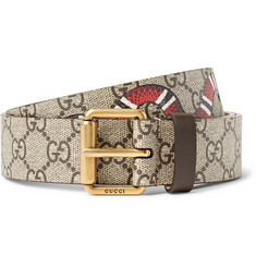 Gucci 3cm Printed Coated-Canvas Belt