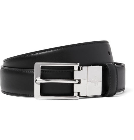 gucci male gucci 3cm black and brown reversible leather belt black