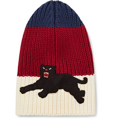 Gucci - Appliquéd Ribbed Wool Beanie