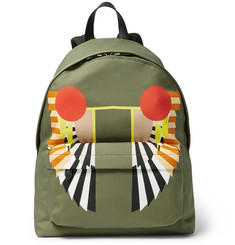 Givenchy Leather-Trimmed Printed Canvas Backpack