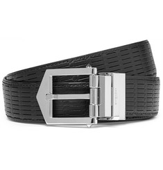 Givenchy 3cm Reversible Embossed Leather Belt