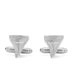 Givenchy Shark Tooth Silver-Tone Cufflinks