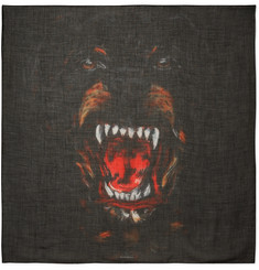 Givenchy Rottweiler Printed Cashmere and Silk-Blend Scarf
