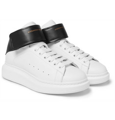 Alexander McQueen - Larry Exaggerated-Sole Leather High-Top Sneakers