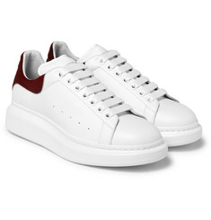Alexander McQueen - Larry Exaggerated-Sole Calf Hair-Trimmed Leather Sneakers