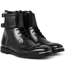Alexander McQueen - Buckled Leather Boots