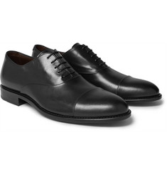 Hugo Boss - Stockholm Cap-Toe Leather Oxford Shoes