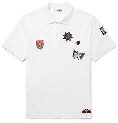 Alexander McQueen Slim-Fit Appliquéd Cotton-Piqué Polo Shirt