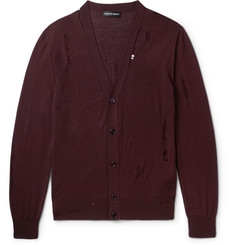 Alexander McQueen - Distressed Wool and Silk-Blend Cardigan