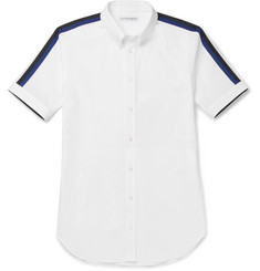 Alexander McQueen Brad Slim-Fit Button-Down Collar Stretch-Cotton Poplin Shirt