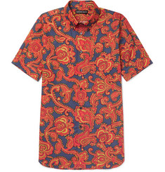 Alexander McQueen Button-Down Collar Paisley-Print Cotton Shirt