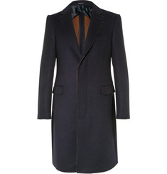 Alexander McQueen Slim-Fit Raw-Edged Double-Faced Wool and Silk-Blend Coat