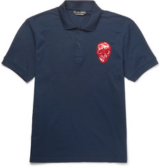 Alexander McQueen - Slim-Fit Embroidered Cotton-Piqué Polo Shirt