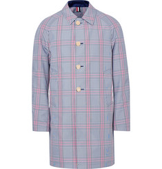 Thom Browne Reversible Prince of Wales Checked Cotton-Blend and Shell Coat