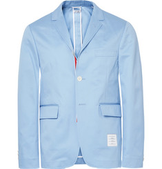 Thom Browne Blue Slim-Fit Unstructured Cotton-Twill Blazer
