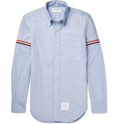 Thom Browne Slim-Fit Grosgrain-Trimmed Cotton Oxford Shirt