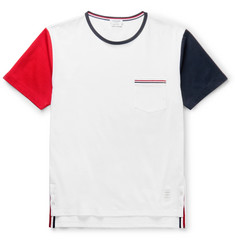 Thom Browne - Slim-Fit Tricolour Cotton-Jersey T-Shirt