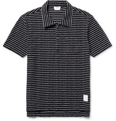 Thom Browne Striped Cotton-Bouclé Polo Shirt