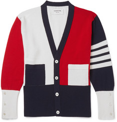 Thom Browne - Colour-Block Cashmere Cardigan