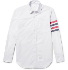 Thom Browne - Slim-Fit Penny-Collar Striped Cotton Oxford Shirt