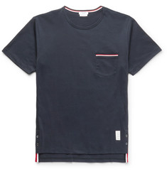 Thom Browne Slim-Fit Grosgrain-Trimmed Cotton-Jersey T-Shirt
