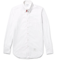 Thom Browne Slim-Fit Button-Down Collar Poplin Shirt