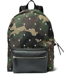 Alexander McQueen - Printed Canvas and Leather Backpack