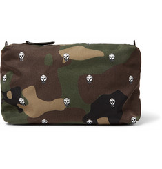 Alexander McQueen Leather-Trimmed Printed Shell Wash Bag